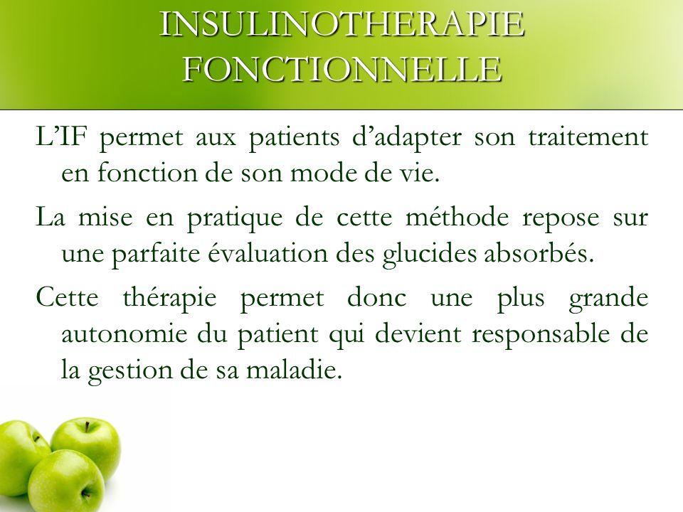 INSULINOTHERAPIE FONCTIONNELLE LIF permet aux patients dadapter son traitement en fonction de son mode de vie.