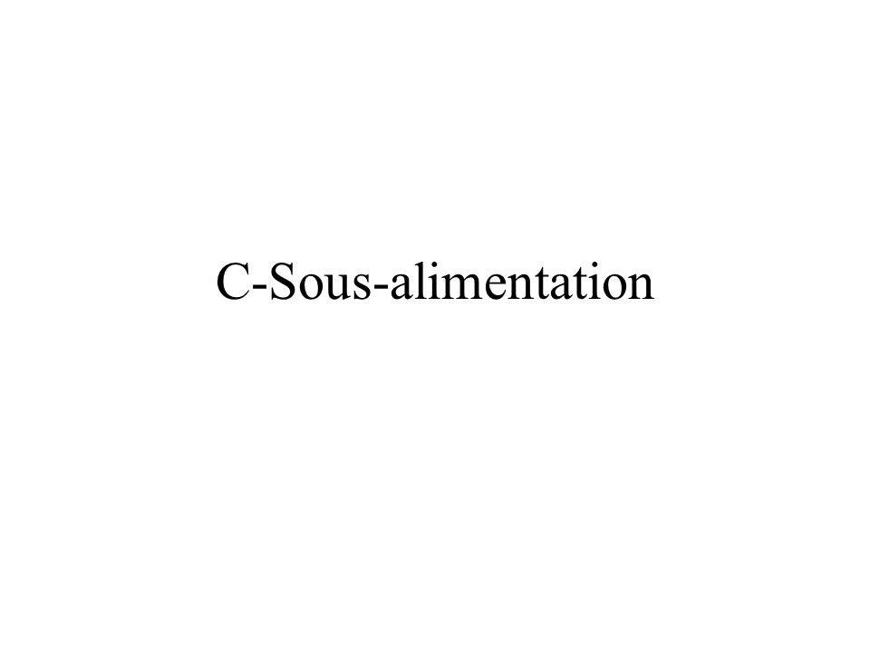 C-Sous-alimentation