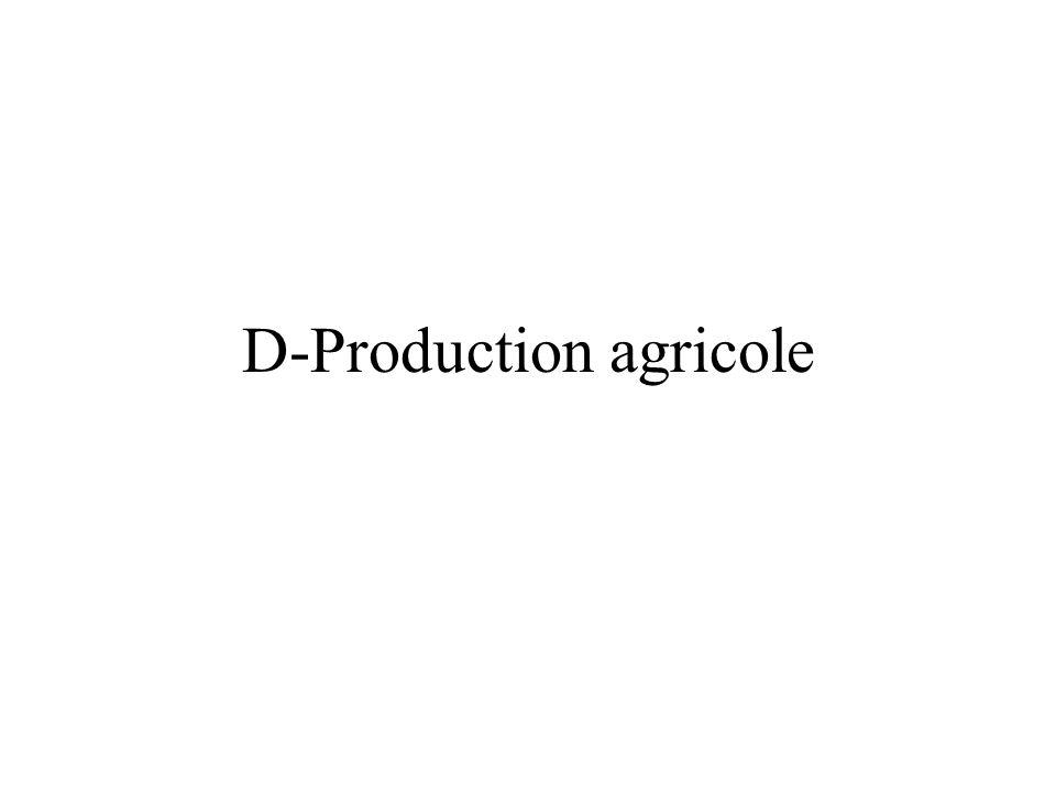 D-Production agricole