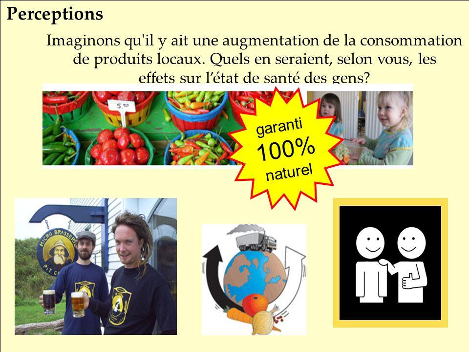 SRQ 05/09produirelasanteensemble.com11 Imaginons qu il y ait une augmentation de la consommation de produits locaux.