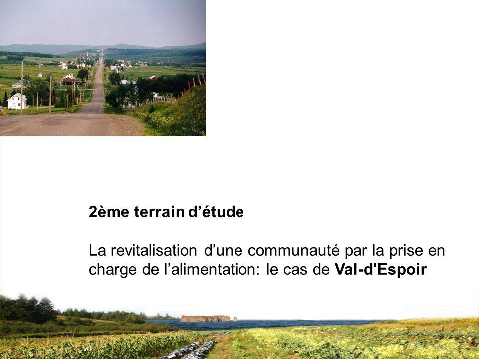 SRQ 05/09produirelasanteensemble.com15 2ème terrain détude La revitalisation dune communauté par la prise en charge de lalimentation: le cas de Val-d Espoir