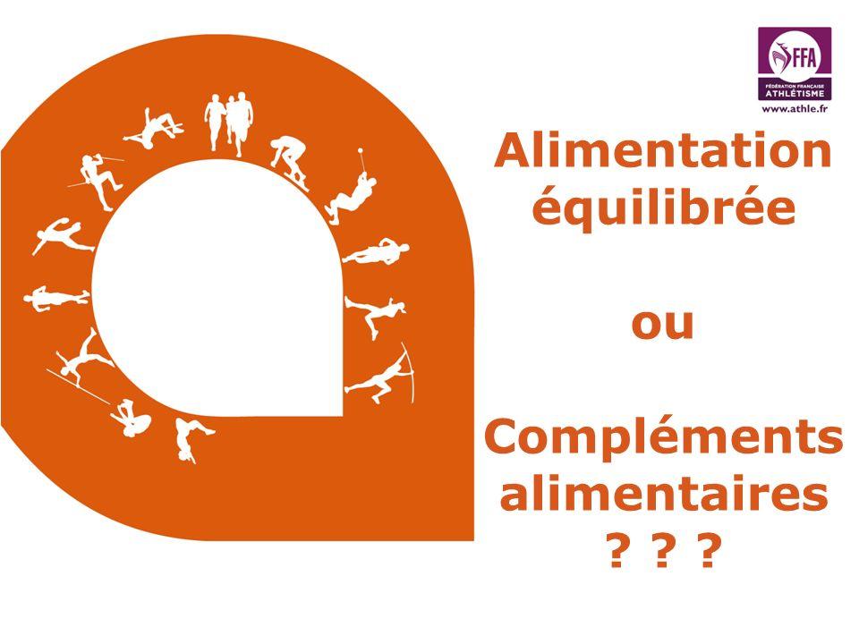 Alimentation équilibrée ou Compléments alimentaires ? ? ?