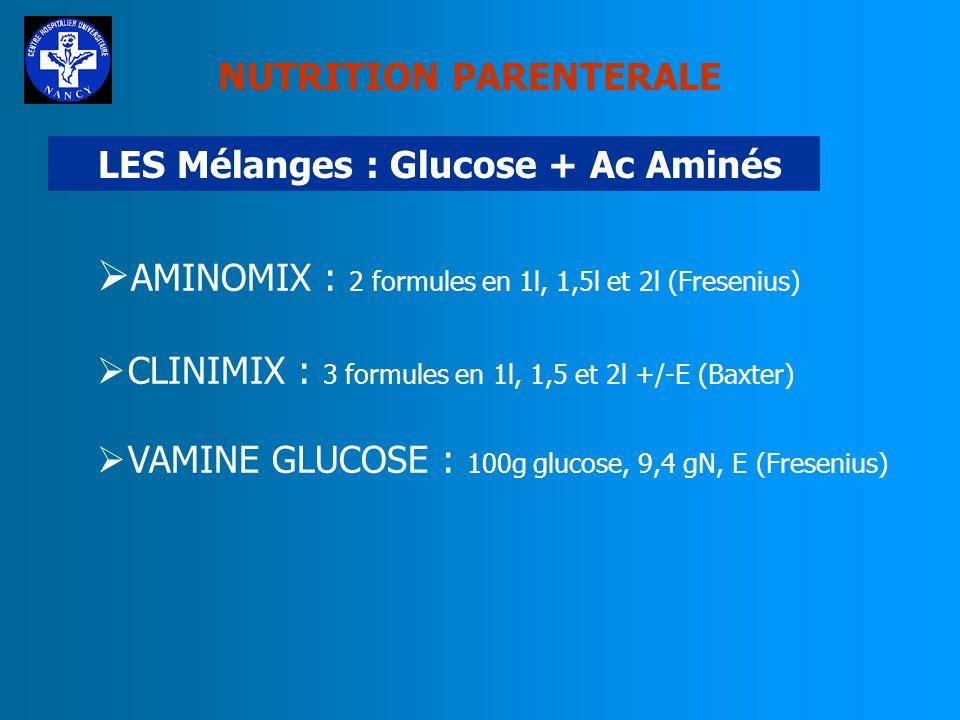 NUTRITION PARENTERALE LES SUBSTRATS LIPIDIQUES LES NOUVEAUX LIPIDES OMEGAVEN : huile de poisson 0,1 à 0,2 g/kg/j Contenu riche en ac.gras de la famill