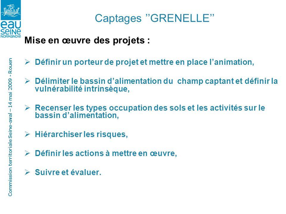 Commission territoriale Seine-aval – 14 mai 2009 - Rouen Captages GRENELLE
