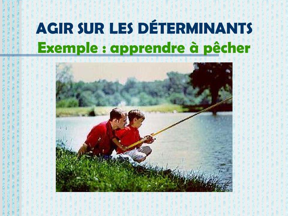 AGIR SUR LES DÉTERMINANTS Exemple : apprendre à pêcher