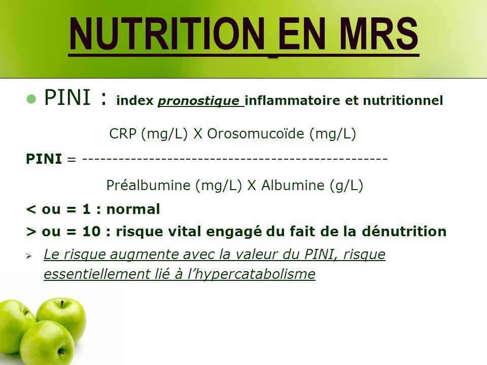 NUTRITION EN MRS Evaluation de la malnutrition : Plusieurs paramètres nécessaires : Mesures anthropométriques POIDS mensuel ou hebdomadaire (en cas de pathologie aiguë) BMI ou IMC (masse musculaire + maigre) La norme augmente avec lâge .