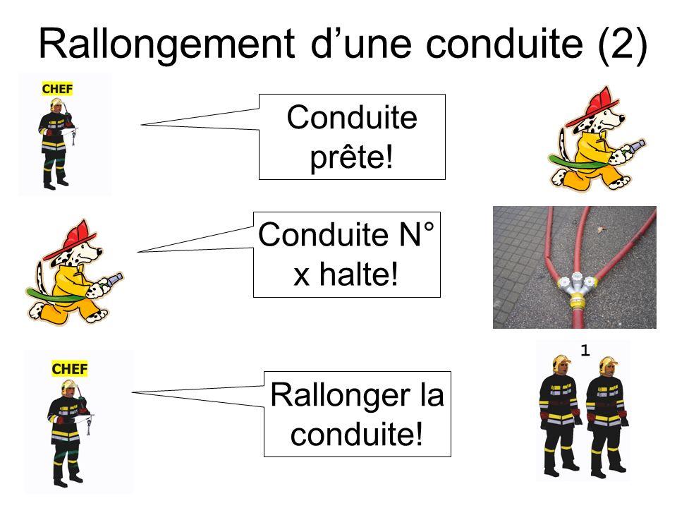 Rallongement dune conduite (3) Conduite prête! Conduite N° x de leau!