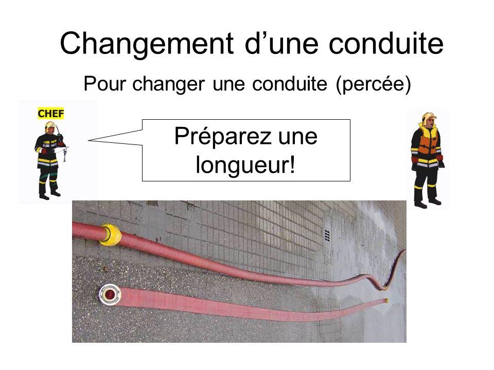 Changement dune conduite (2) Conduite prête Conduite N° x halte!