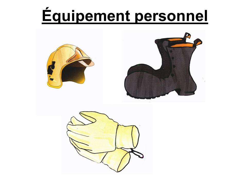 Équipement personnel (bis) Pas obligatoire sauf selon les cas