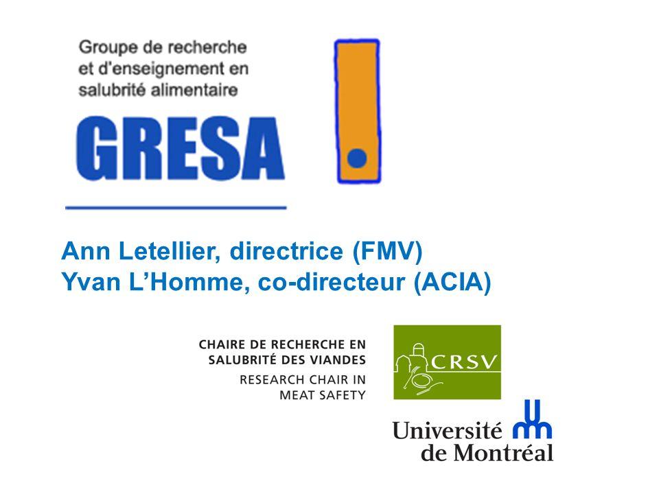 Ann Letellier, directrice (FMV) Yvan LHomme, co-directeur (ACIA)