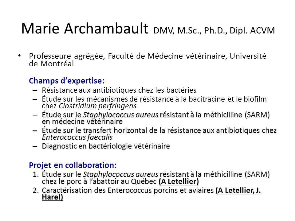 Marie Archambault DMV, M.Sc., Ph.D., Dipl.