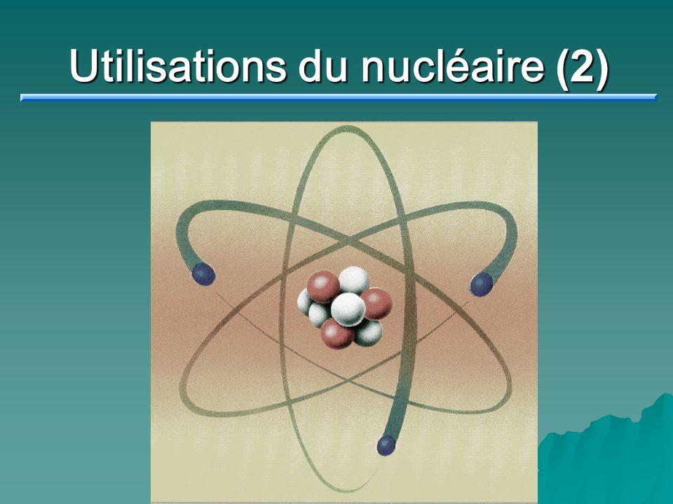 Datation au carbone 14 Une autre utilisation + 6 14 C 7 N Désintégration de l isotope carbone14 Demi-vie = 5730 ans Tout ce qui est vivant contient du carbone et absorbe du carbone par sa nourriture