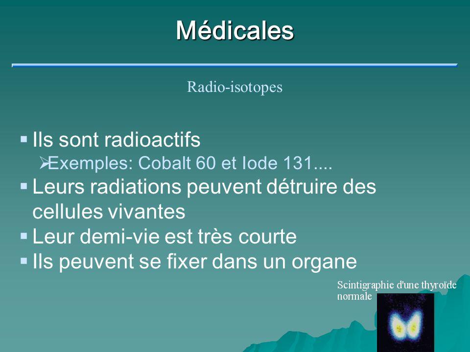 Traceurs On injecte un radio-isotope absorbé naturellement par l organe On suit le rayonnement (instrument de détection) Pour déceler une anomalie Pour voir si l organe fonctionne bien Page 5.26