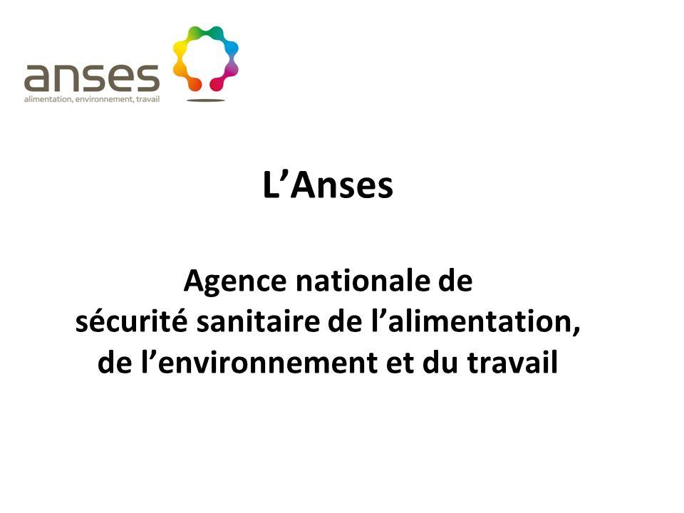 LAnses Agence nationale de sécurité sanitaire de lalimentation, de lenvironnement et du travail