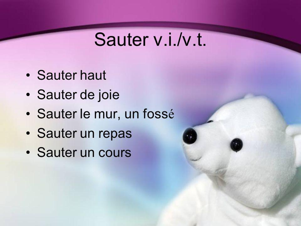 Sauter v.i./v.t.