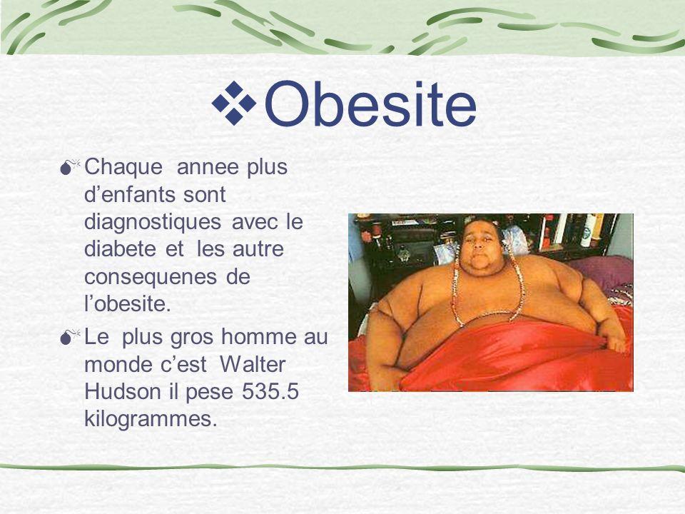 Obesite Chaque annee plus denfants sont diagnostiques avec le diabete et les autre consequenes de lobesite.