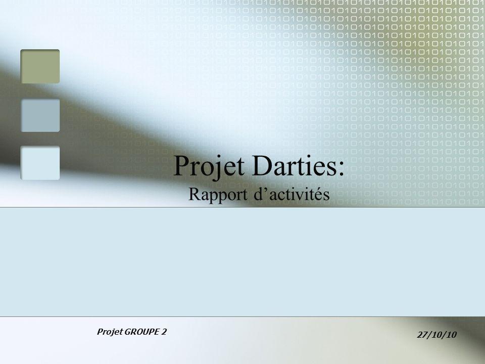 Projet Darties: Rapport dactivités Projet GROUPE 2 27/10/10