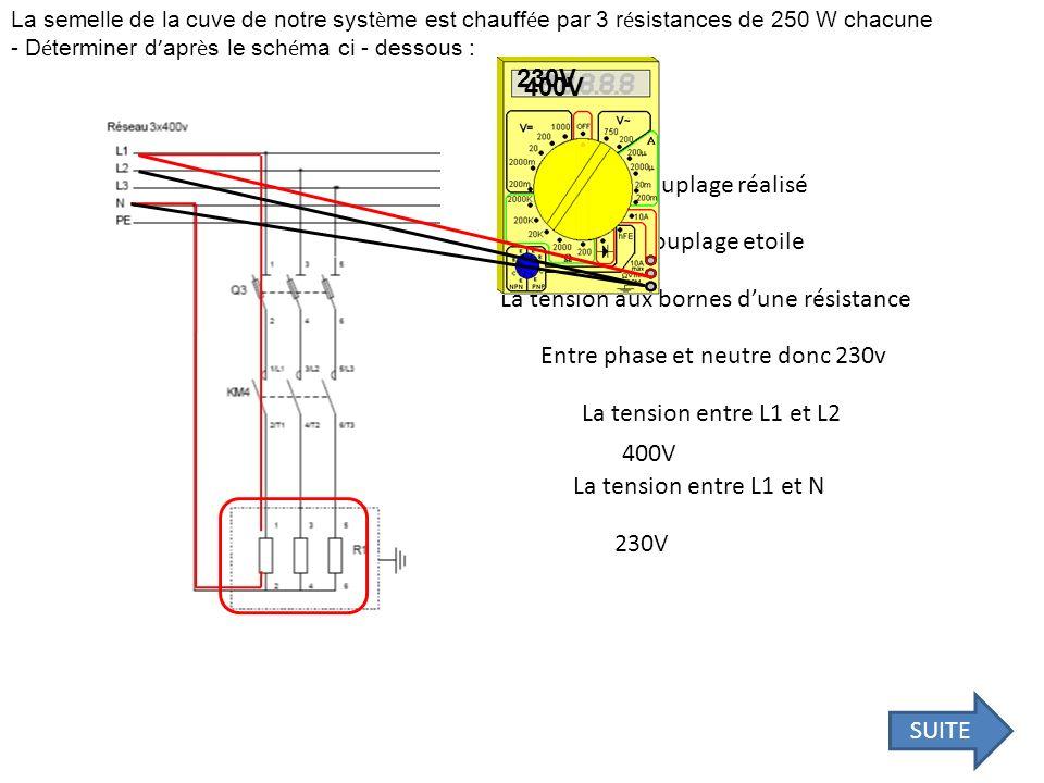Le r é seau d alimentation est abaiss é à 230 V entre phases.