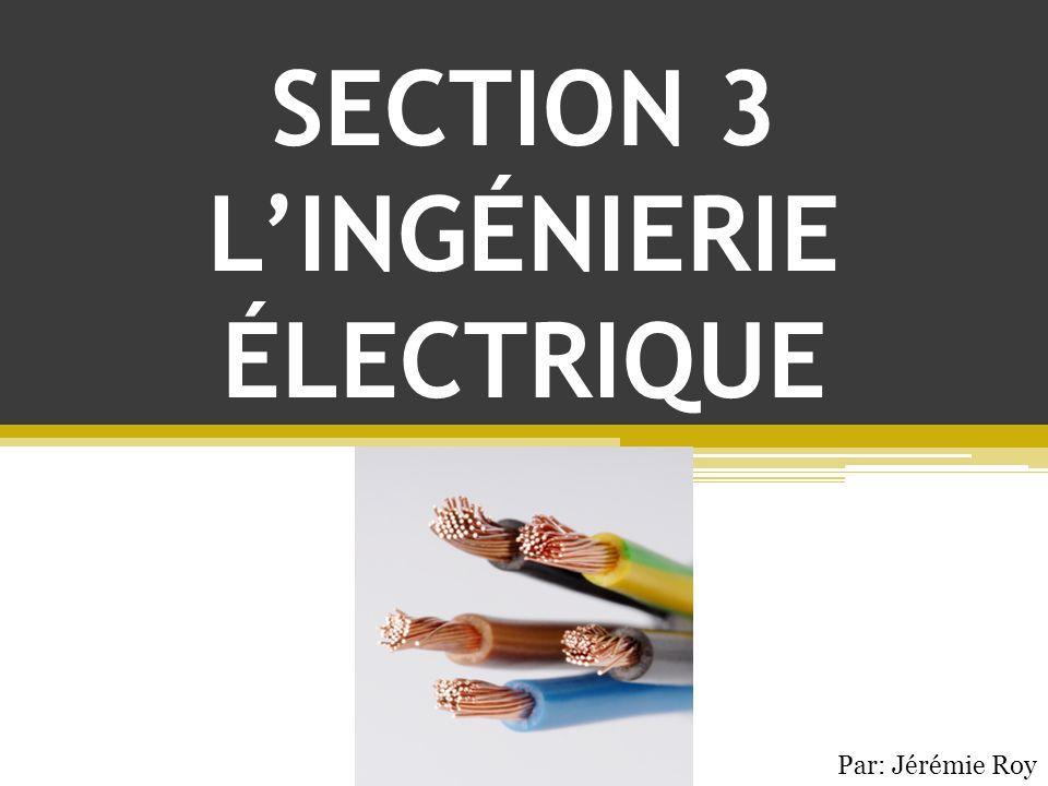SECTION 3 LINGÉNIERIE ÉLECTRIQUE Par: Jérémie Roy