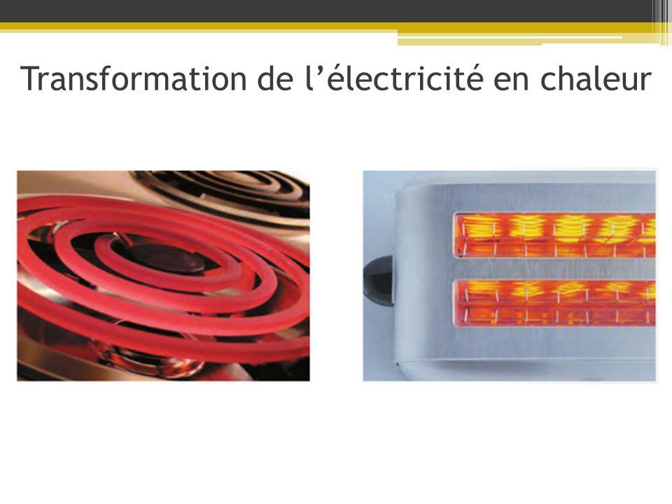 Transformation de lélectricité en chaleur