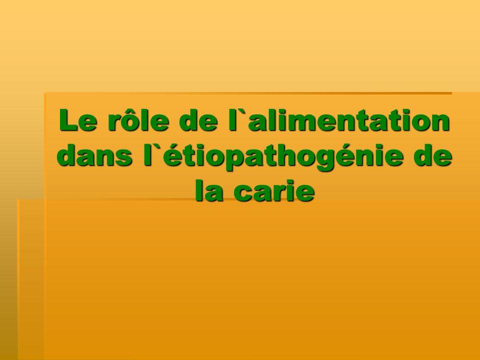 Le potentiel cariogène Le Potentiel cariogène: >60g/jour pour les adultes et les adolescents >30g/jour pour les enfants prescolaires (Eurodiet Core Report, 2001).