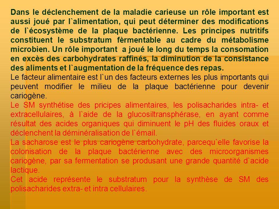 L`effect systémique est concludent seulement dans l`étape de formations des dents par l`altération de la résistance à la carie de l`émail à la suite des modifications structurales déterminée par des déséquilibres nutritionnels graves: 1.