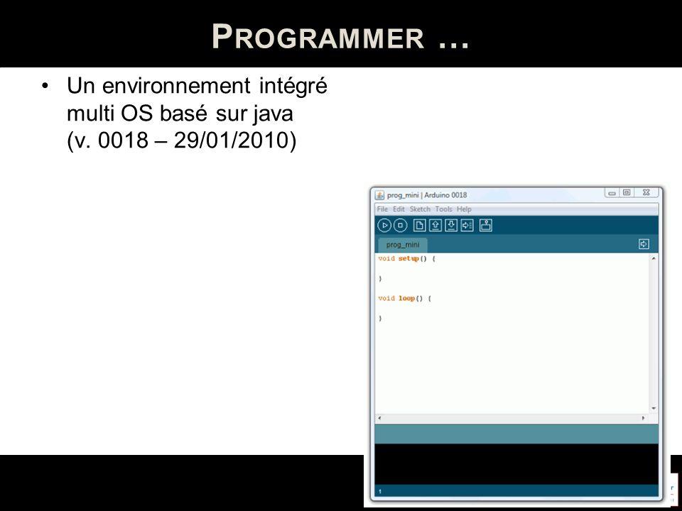 P ROGRAMMER … Un environnement intégré multi OS basé sur java (v. 0018 – 29/01/2010)