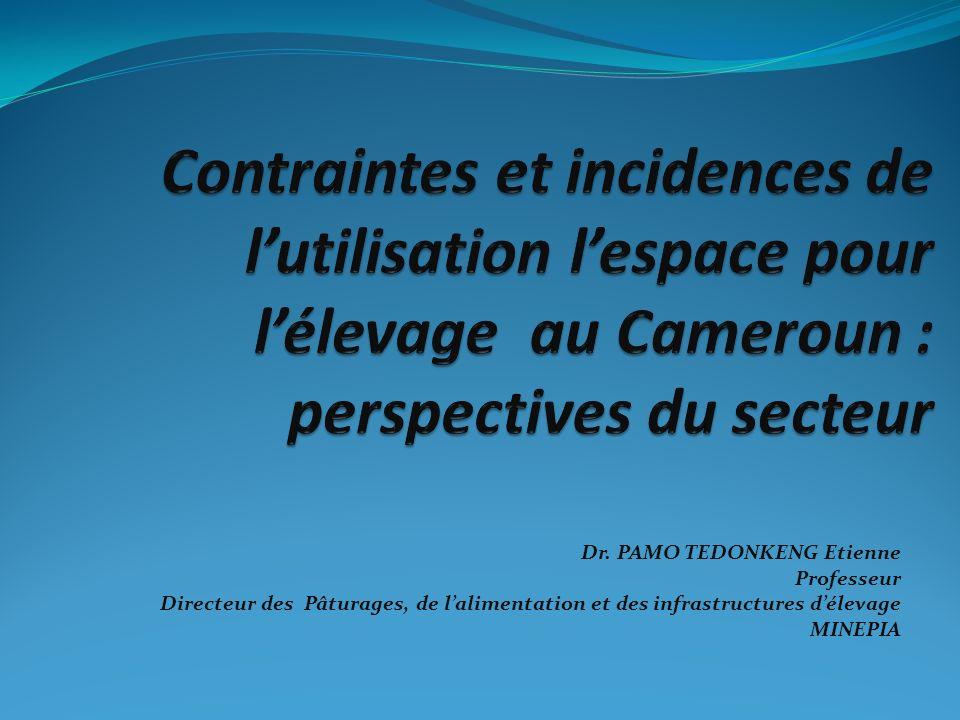 Dr. PAMO TEDONKENG Etienne Professeur Directeur des Pâturages, de lalimentation et des infrastructures délevage MINEPIA