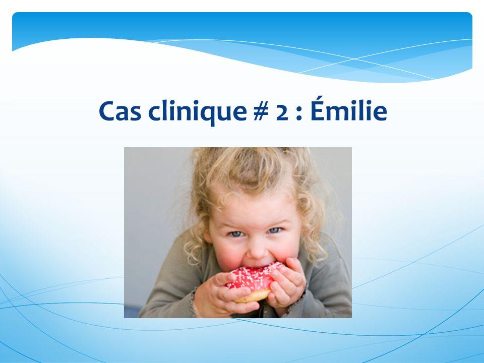 Quel(s) facteur(s) de risque et quel(s) problème(s) potentiel(s) de santé correspondant(s) identifiez-vous chez cette enfant.
