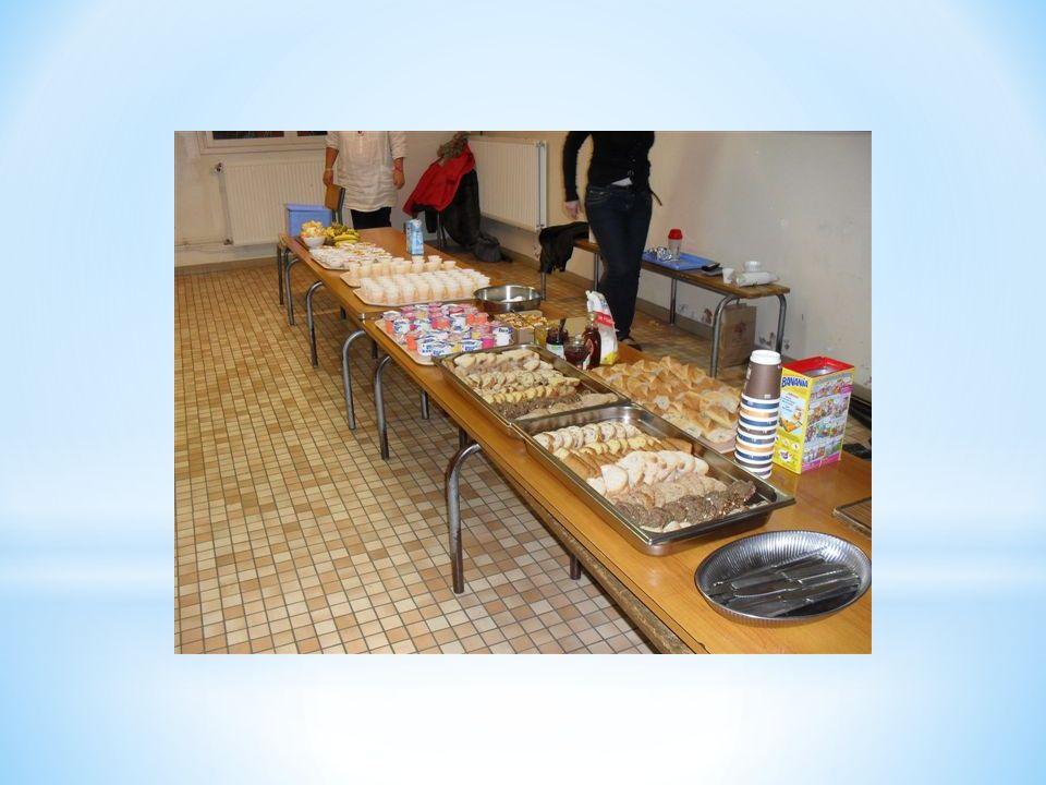 * Durant la semaine des APEL qui sest déroulée du 17 au 22 octobre 2011, sur le thème Bien manger en famille, en forme à l école , l équipe de l école Immaculée Conception a offert à chaque classe de la maternelle au CM2 un petit déjeuner équilibré.