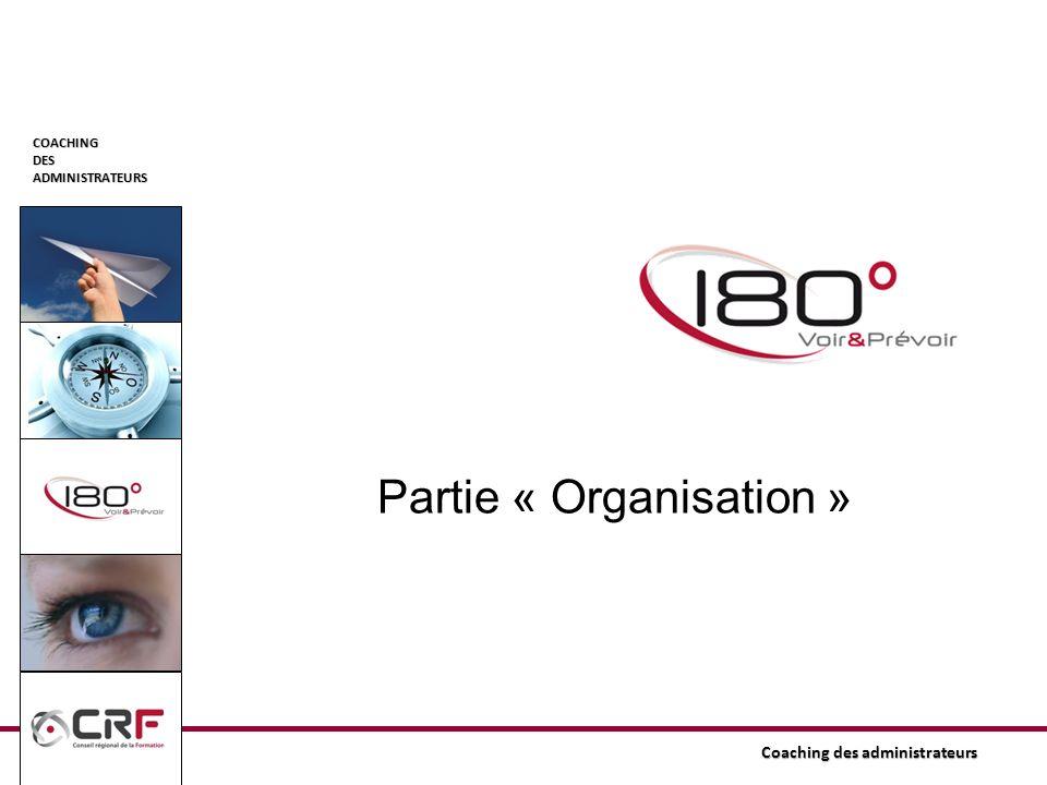 COACHINGDESADMINISTRATEURS Coaching des administrateurs Partie « Organisation »