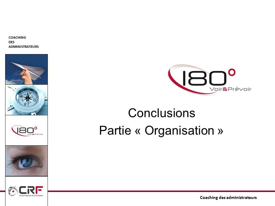COACHINGDESADMINISTRATEURS Conclusions Partie « Organisation »