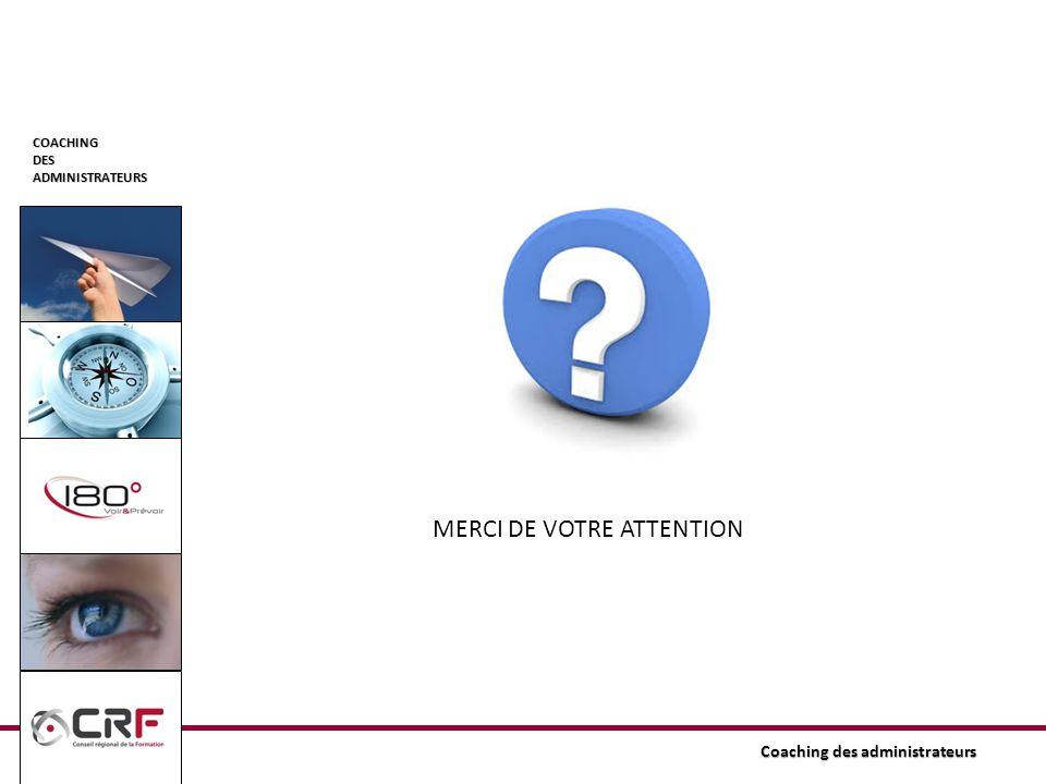 COACHINGDESADMINISTRATEURS Coaching des administrateurs MERCI DE VOTRE ATTENTION