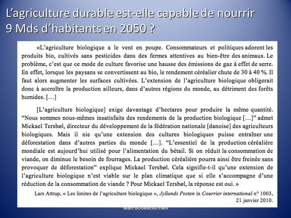 Marc BOURREAU EMA Lagriculture durable est-elle capable de nourrir 9 Mds dhabitants en 2050 ?