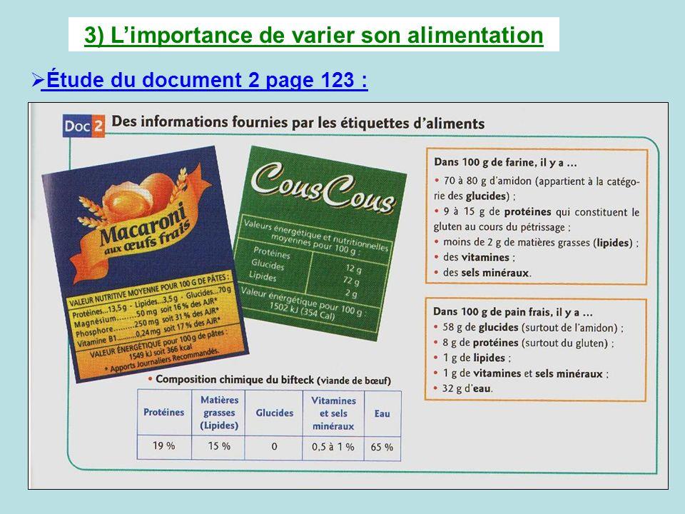 III) Un exemple délevage: la vache limousine Étude du document 1 page 126 : 1) Bien lire le document 1.