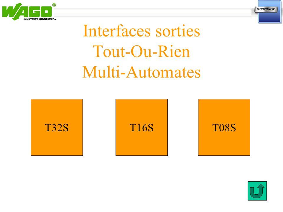Interfaces sorties Tout-Ou-Rien Multi-Automates T32ST08ST16S
