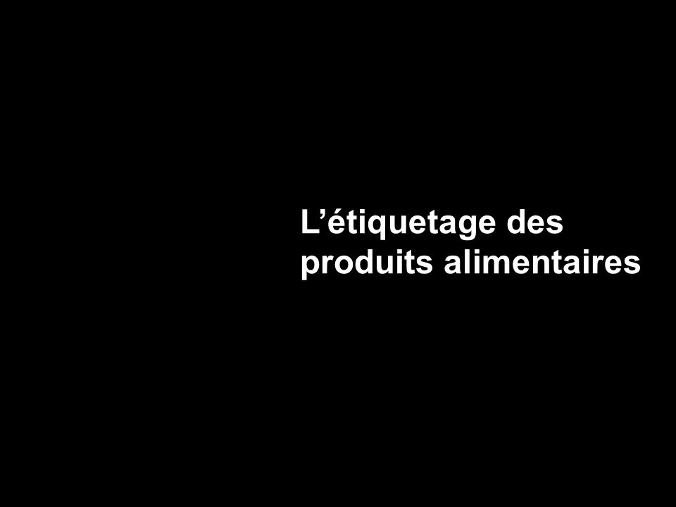 Liste des ingrédients et des constituants Énumération des ingrédients et des constituants en ordre dimportance décroissant (poids).