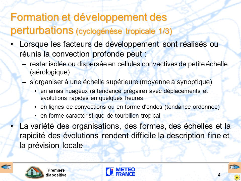 Perturbations tropicales Perturbations tropicales FIN Première diapositive