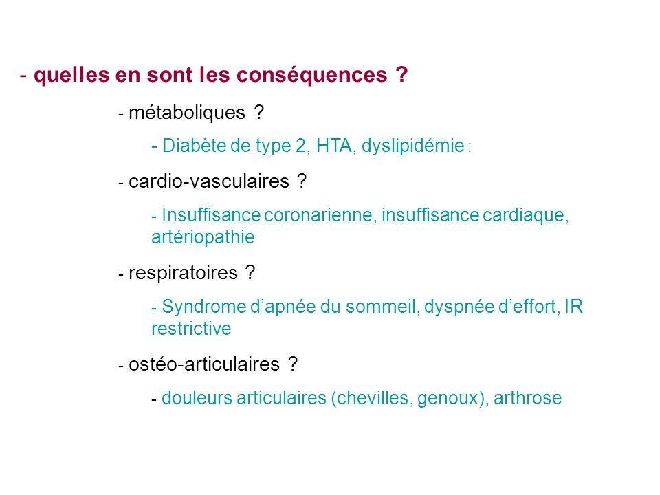 - quelles en sont les conséquences .- métaboliques .