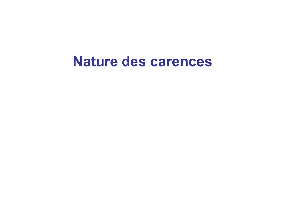 Nature des carences