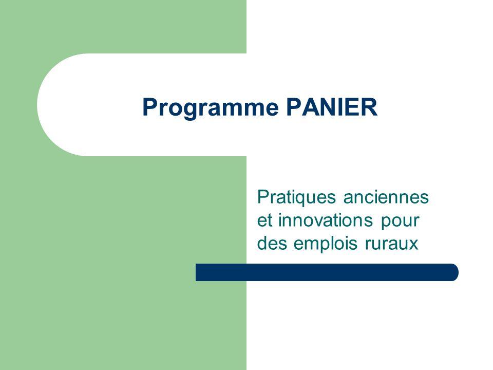 Programme PANIER Pratiques anciennes et innovations pour des emplois ruraux
