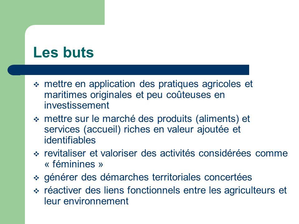 Les buts mettre en application des pratiques agricoles et maritimes originales et peu coûteuses en investissement mettre sur le marché des produits (a