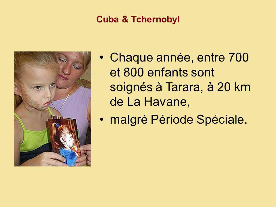 Cuba & Tchernobyl Le programme d attention médicale intégrale : réhabilitation psychologique, alimentation équilibrée, activités culturelles et sportives.