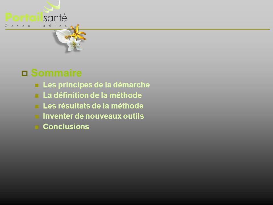 Sommaire Les principes de la démarche La définition de la méthode Les résultats de la méthode Inventer de nouveaux outils Conclusions