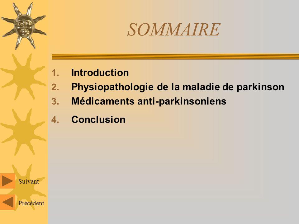 SOMMAIRE 1.Introduction 2. Physiopathologie de la maladie de parkinson 3.