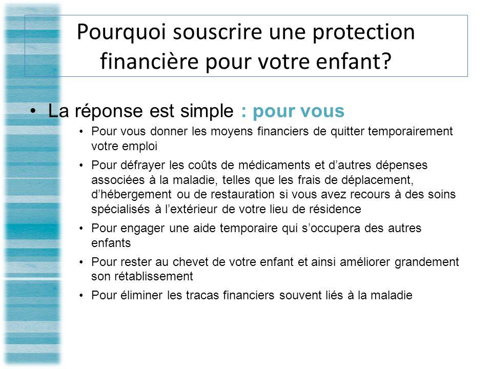 Pourquoi souscrire une protection financière pour votre enfant.