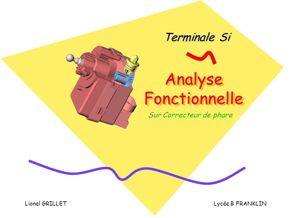 Lionel GRILLETLycée B FRANKLIN Analyse Fonctionnelle Terminale Si Sur Correcteur de phare