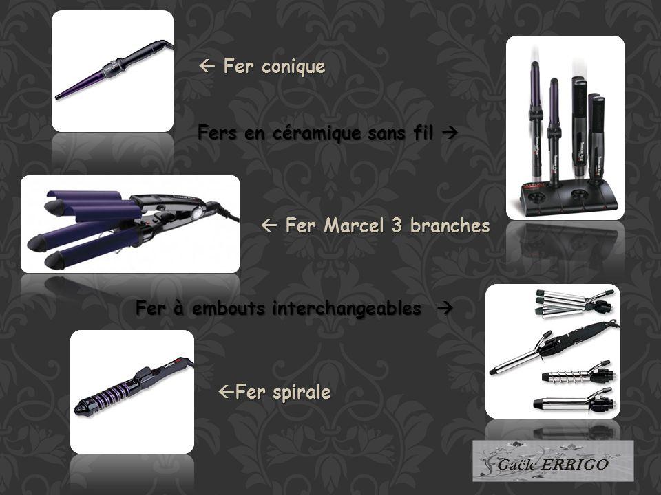 Fer conique Fer Marcel 3 branches Fer spirale Fers en céramique sans fil Fer à embouts interchangeables Gaële ERRIGO