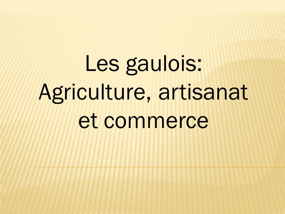 Les gaulois: Agriculture, artisanat et commerce