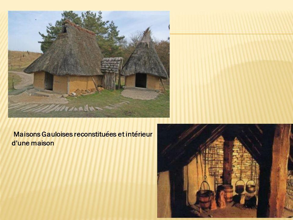 Maisons Gauloises reconstituées et intérieur d'une maison